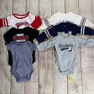Other - Bundle of 6 boys onesies size 3 month sports theme